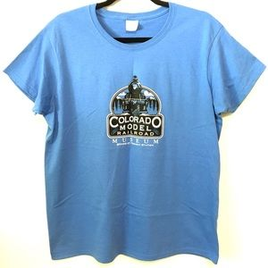 Other - 🆕Colorado Model Railroad Museum Tee Shirt Blue L